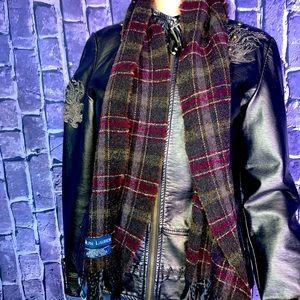 Ralph Lauren made in Scotland scarf Blue label